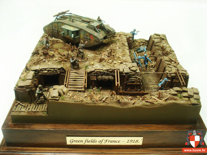 "Diorama ""Green fields of France"" 1/72 – by Stips"