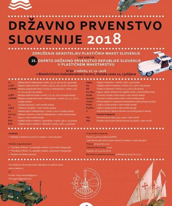 17.11.2018. – 25. otvoreno prvenstvo Republike Slovenije u plastičnom maketarstvu