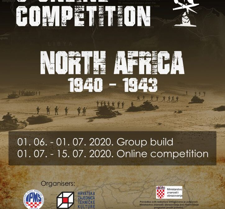 """01.06.-15.07.2020. – IPMS Croatia Group Build & Online Competition """"North Africa 1940-1943"""""""